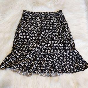 Max Studio Floral Flounce Skater Skirt